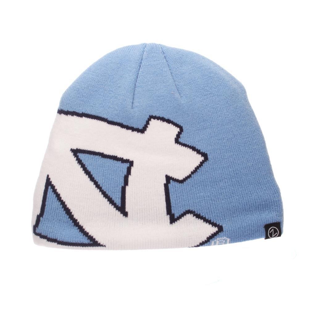 1cdaac16c37 Get Quotations · North Carolina Tar Heels Official NCAA Youth Peek Knit  Adjustable Beanie Sock Hat by Zephyr 222973