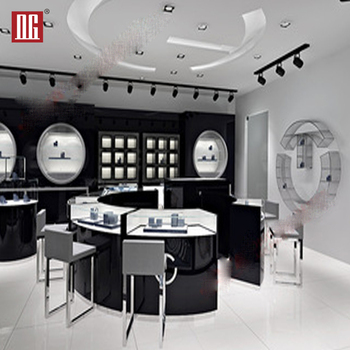 Fashionable customized retail store fittings boutique shelveing units