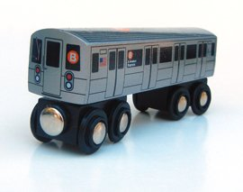 Munipals NYC Subway Wooden Railway B Car Toy Train