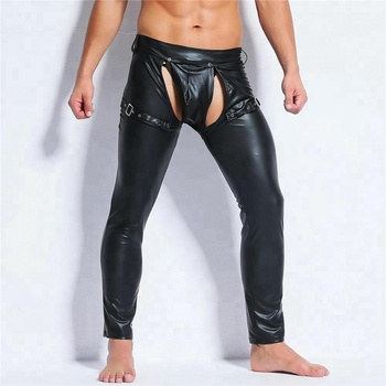 Shemax Mens Fetish Sexy Open Crotch Leggings