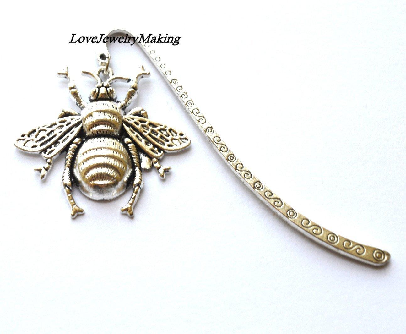 Honeybee Bookmark,graduation gift teacher gift,Unique Honeybee Bookmarks Halloween bookmark bookworm, reading lover gift