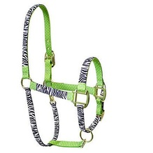 Zwart Zebra High Fashion Paard Halter