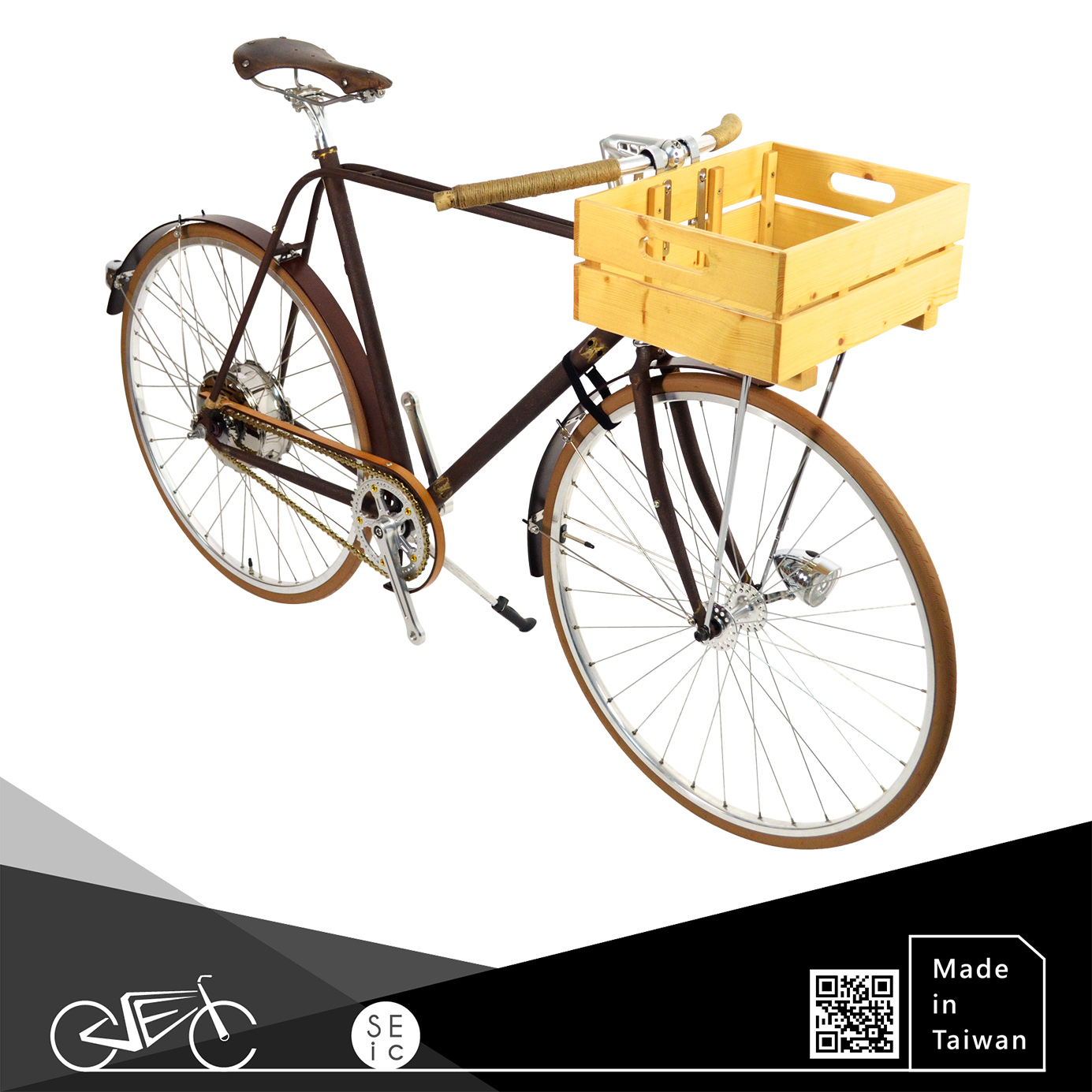 Taiwan 700C Bike vintage ebike Rust Electric City Bicycle with Classic ZEHUS all in one electrical features