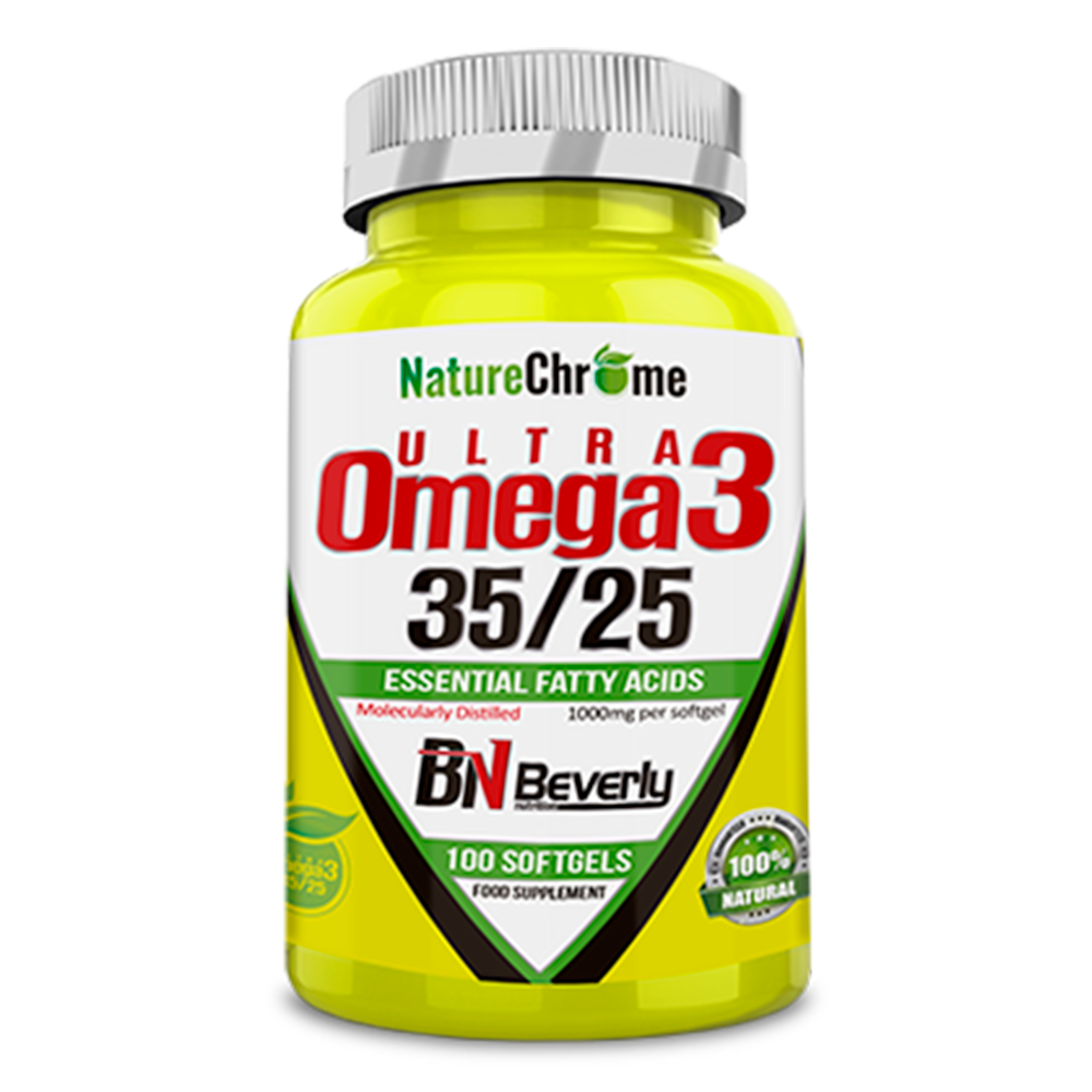 Ultra Omega 3-35/25. 100 softgels. Beverly Voeding