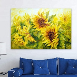 Handpainted Modern Art Canvas Sunflowers Oil Painting Without Frame Beautiful Picture Of Flowers