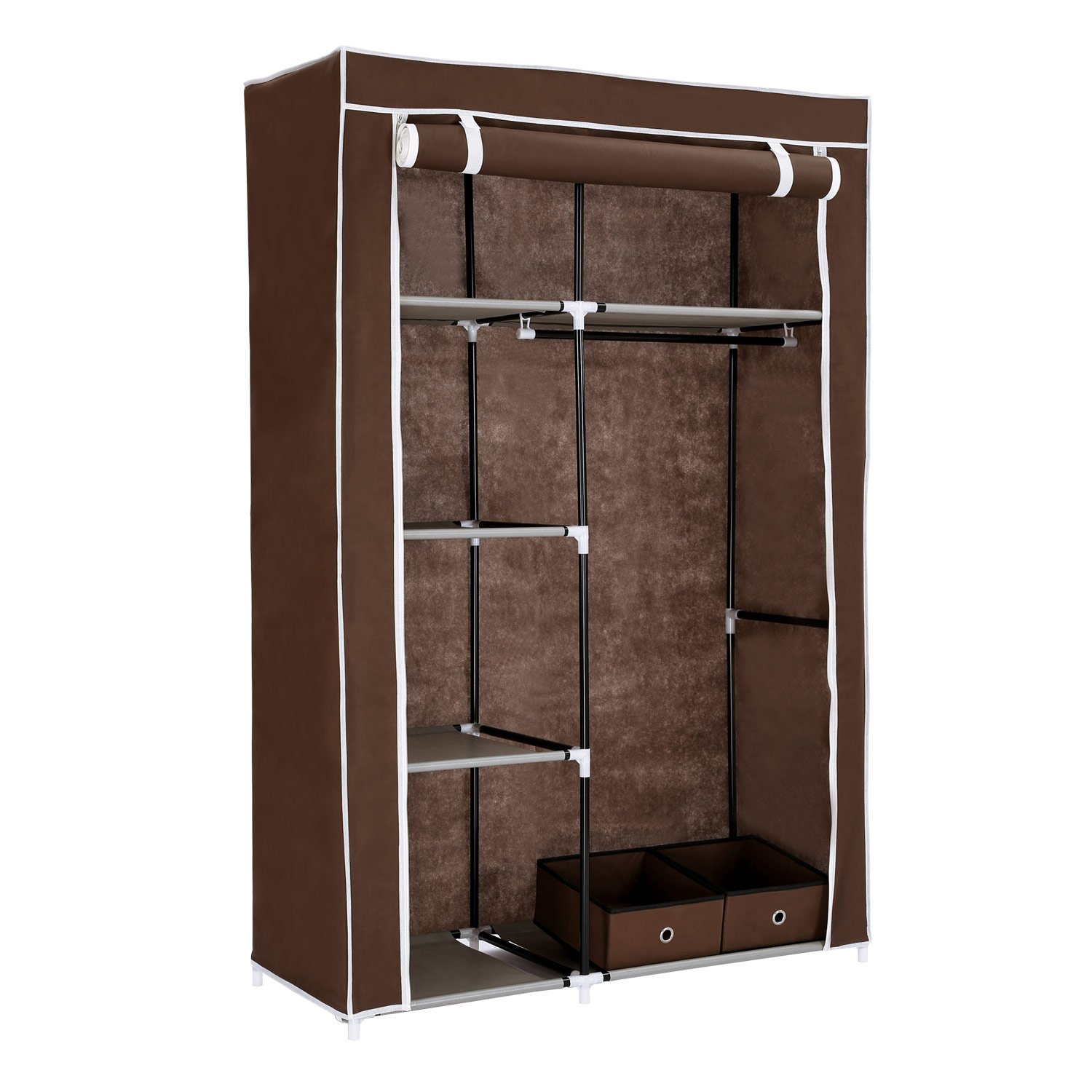 Get Quotations · Home Like Clothes Closet Portable Wardrobe Armoire Cabinet  Storage Organizer Portable Closet With Non