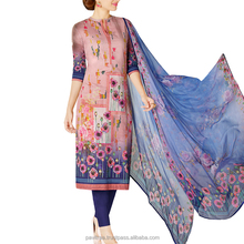 Beautifully Designed Light Pink Colored Cotton Lawn Salwar Suits
