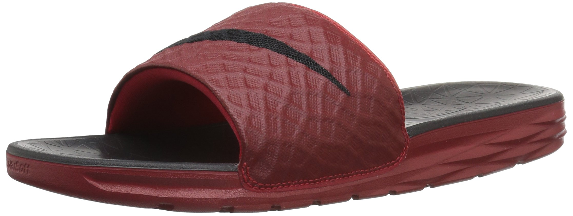 2a55c4104586 Buy Nike Benassi Solarsoft Slide Black Sport Red 431884-011 Mens ...