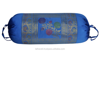 Turquoise Color Bolseter Cover Classical Jacquard Work Pillow Cases Living  Room Accessories, View funny pillow case, Lalhaveli Product Details from ...