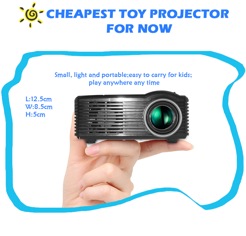 Mini cheap Portable lcd proyector 450lumens led Projector for Home Theater beamer