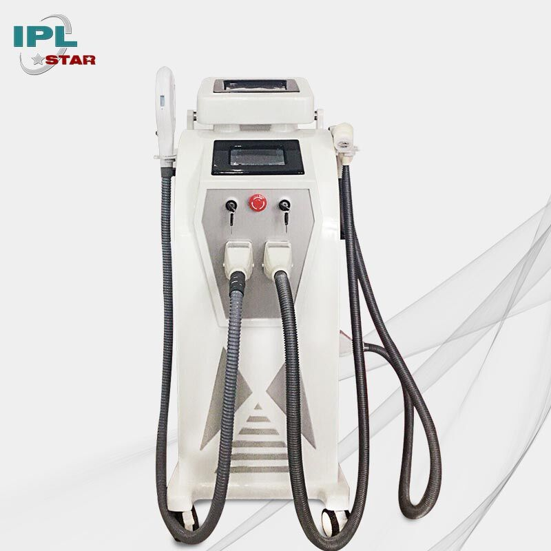 Kwaliteit Chinese Producten 5 in 1 Verticale Nd yag Laser OPT Elight IPL RF Laser Tattoo Removal Multifunctionele Schoonheid Machine