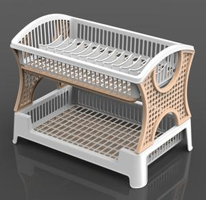 Plastic Dish Rack with Beige Color -Skype: july.le2407