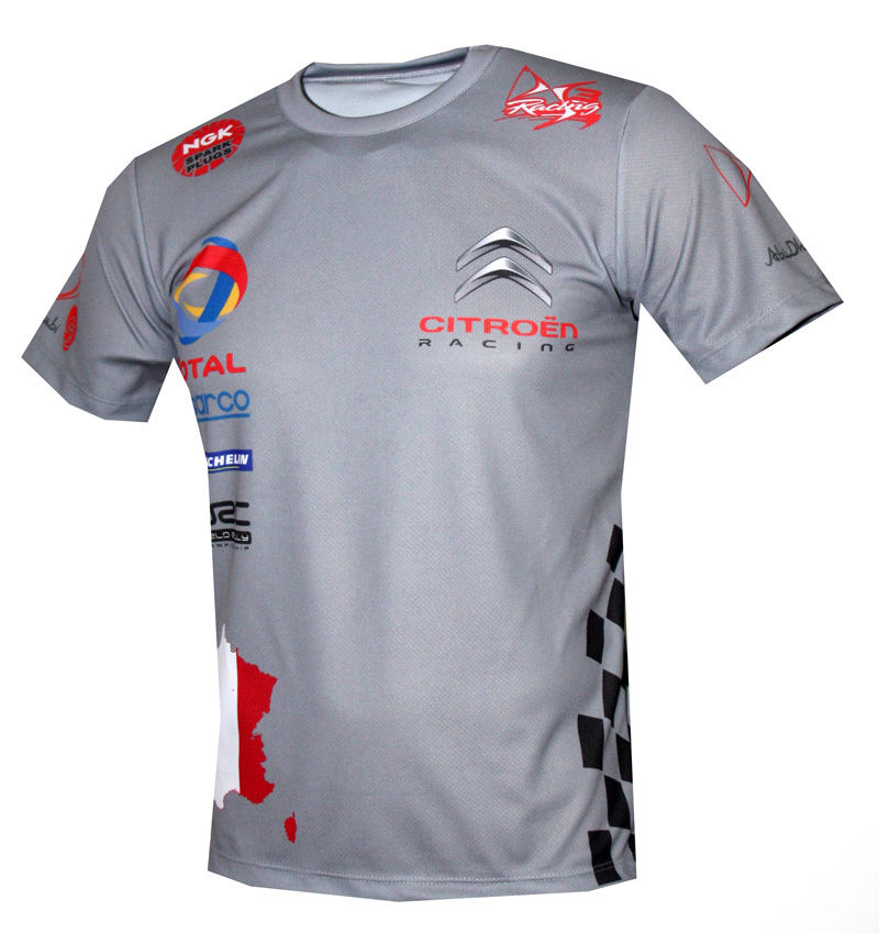 Citroen racing - All Over Sublimation Print T-shirt / DS3 rally / gray