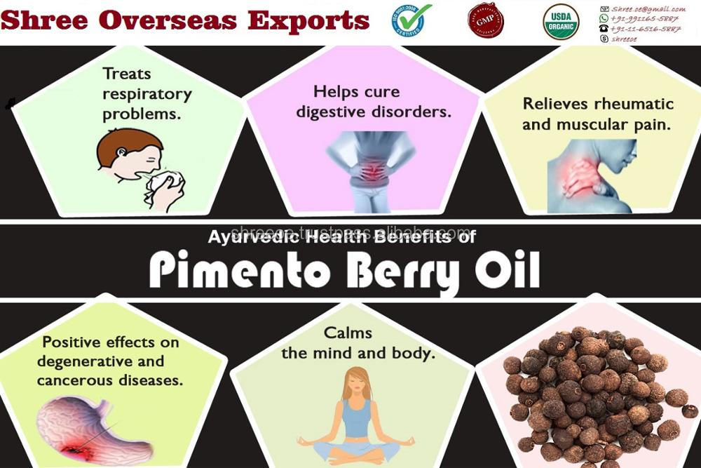 2017 Widely Selling Organic Pimento Berry Oil from India