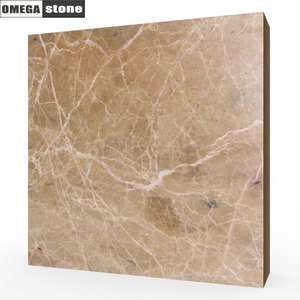 Brushed finish 80x80cm natural brown tiles floor marble