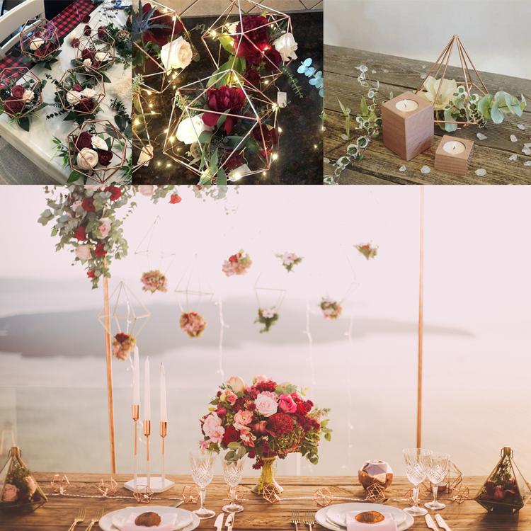 Neue Produkte 2018 für Halloween Weihnachten & Hochzeitsdekorationen / Gefälligkeiten / Souvenirs Glaskristallvasen für Hochzeitsschmuck