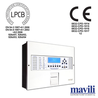 Intelligent Addressable Fire Alarm Control Panel with Printer 1-4 Loop