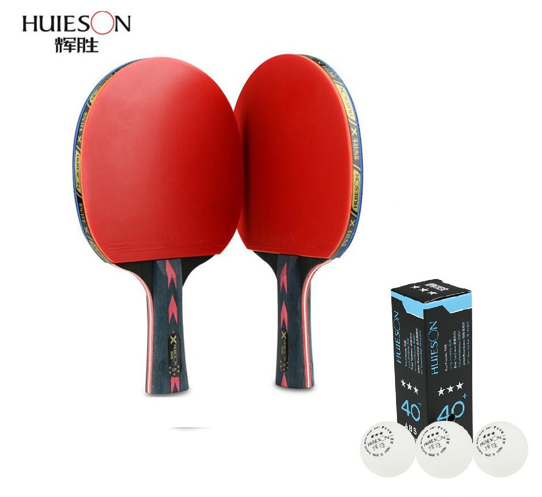 Five-star table tennis rackets 2 packs Double shot To shoot Professional training table tennis racket