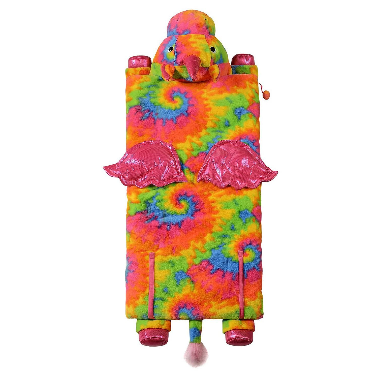 Kids Plush Animal Slumber/Sleeping Bag with Super-Soft Cozy Faux Fur (Tie Die Unicorn)