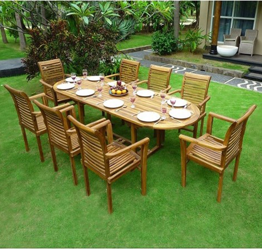 Teak Furniture Used Garden Outdoor