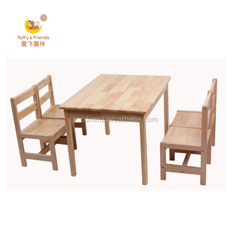 Solid Wood Kids Table With 4 Chairs