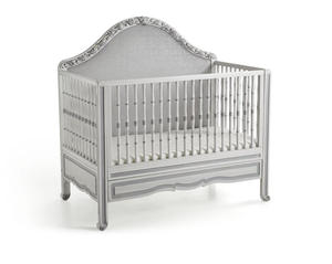 luxury royal wooden baby crib, european style new born baby bed with carving flower
