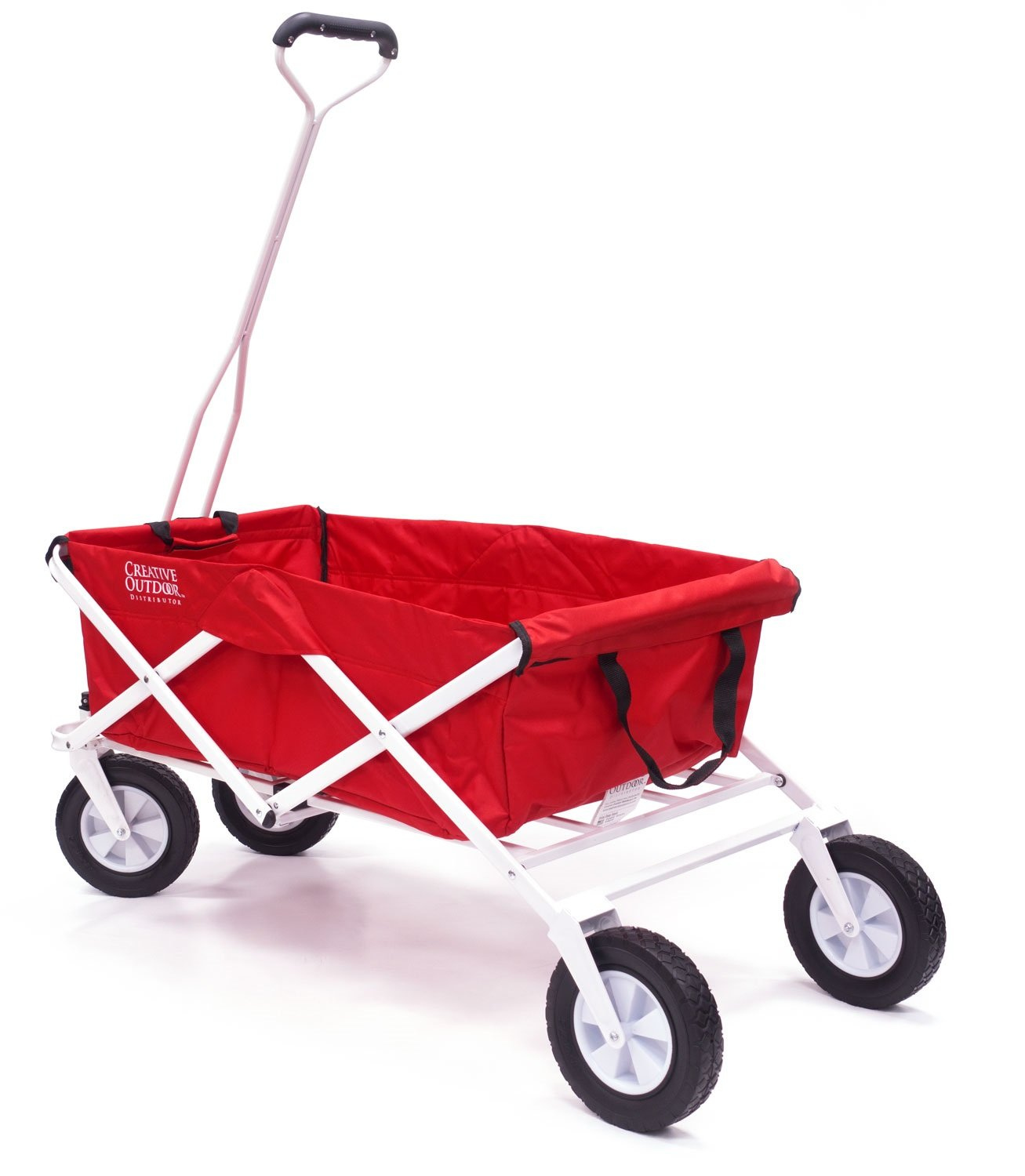 Creative Outdoor Distributors USA Folding Wagon without Top, Red