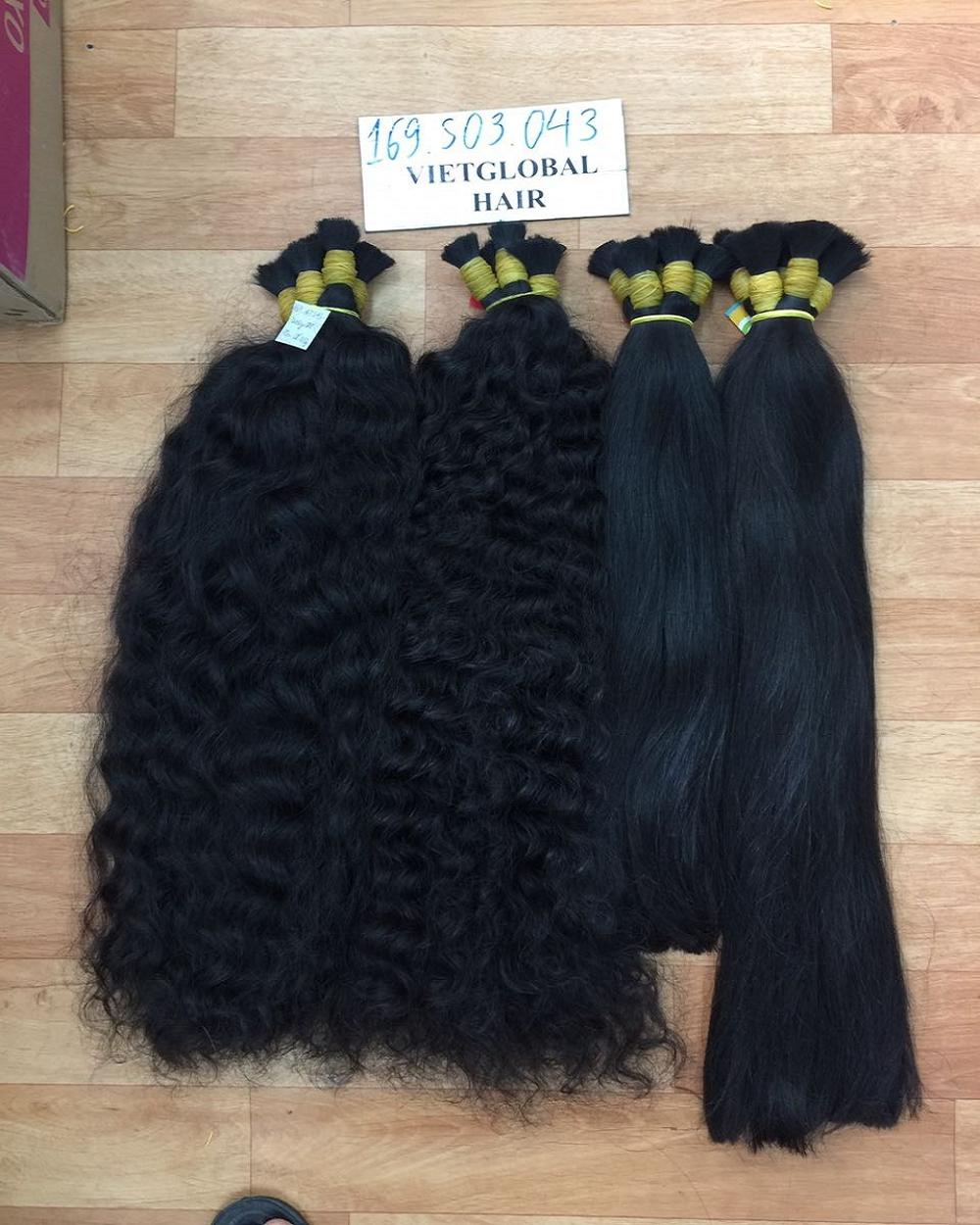 Wholesale human braiding hair bulk no weft raw Vietnamese hair remy virgin hair straight