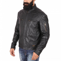 Classic Motorcycle Jacket For Men Original Leather High Class USA Style Fashion