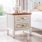 Hand Painted White Bedside Table Bedroom Furniture