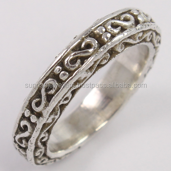 Unique Designer 5mm PLAIN Band Ring 925 Sterling Silver, Indian Silver Jewelry, Oxidized Silver Jewelry