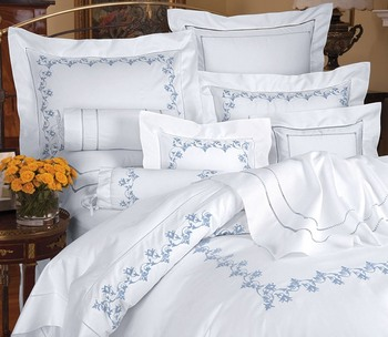 Luxury Cotton Embroidery Pattern, Multiple Design Bed Sheet