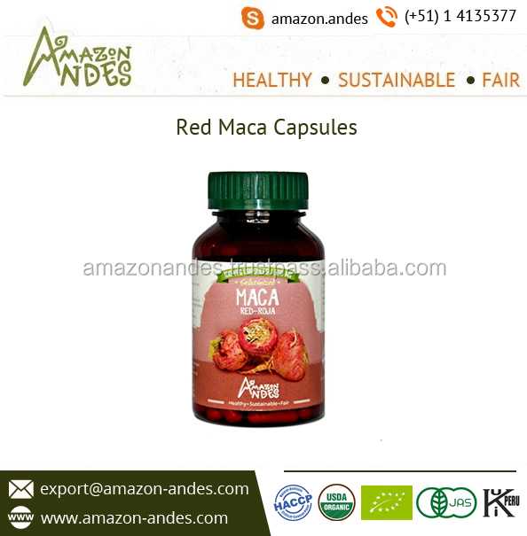Health Supplement Red Maca Capsules Available from Certified Company