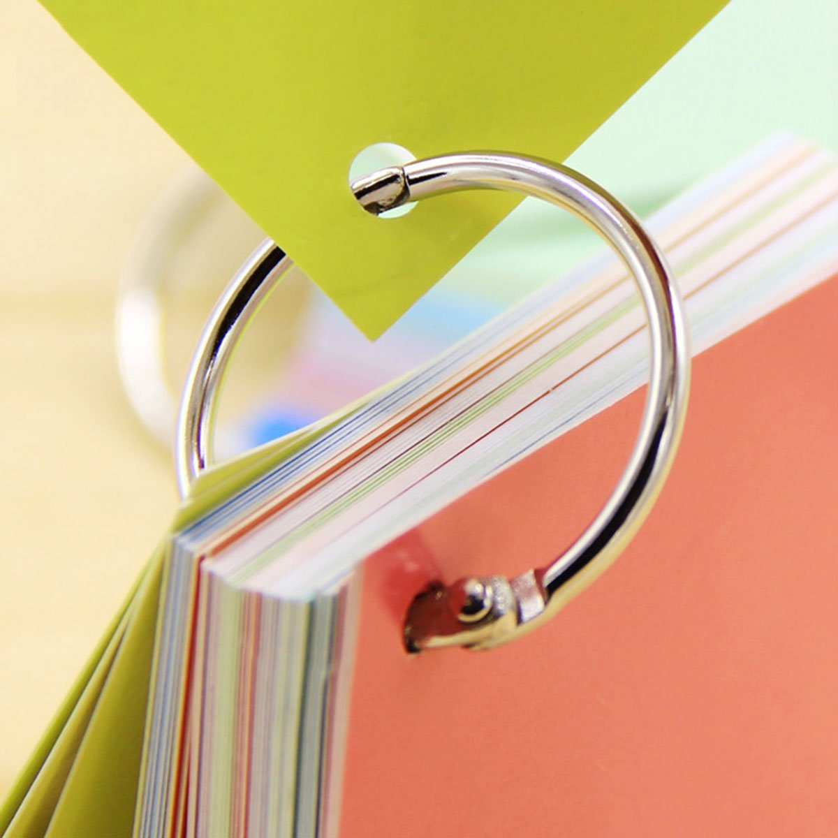 Round Loose Leaf Binder Rings Metal Book Rings Paper Notebook Album Photo  Rings Curtain Hooks Rings Clips Keychains Keyrings for School,Home,or  Office 1.18 Inch,Multicolor,50 Pieces by WWahuayuan nayancorporation.com
