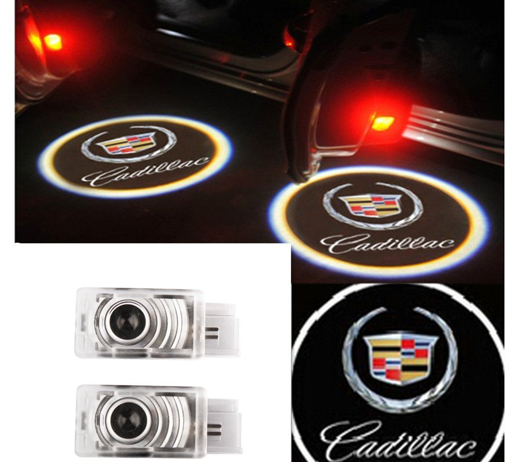Moonet 2x LED Door Courtesy Shadow Ghost Lamp Projector Light for Cadillac 2010-2015 SRX ,2013 XTS ,2013-2014 ATS, 2014 CTS