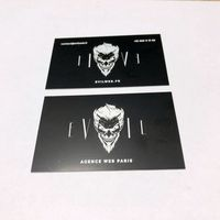 Best Price For Cheap Etched Black Metal Card