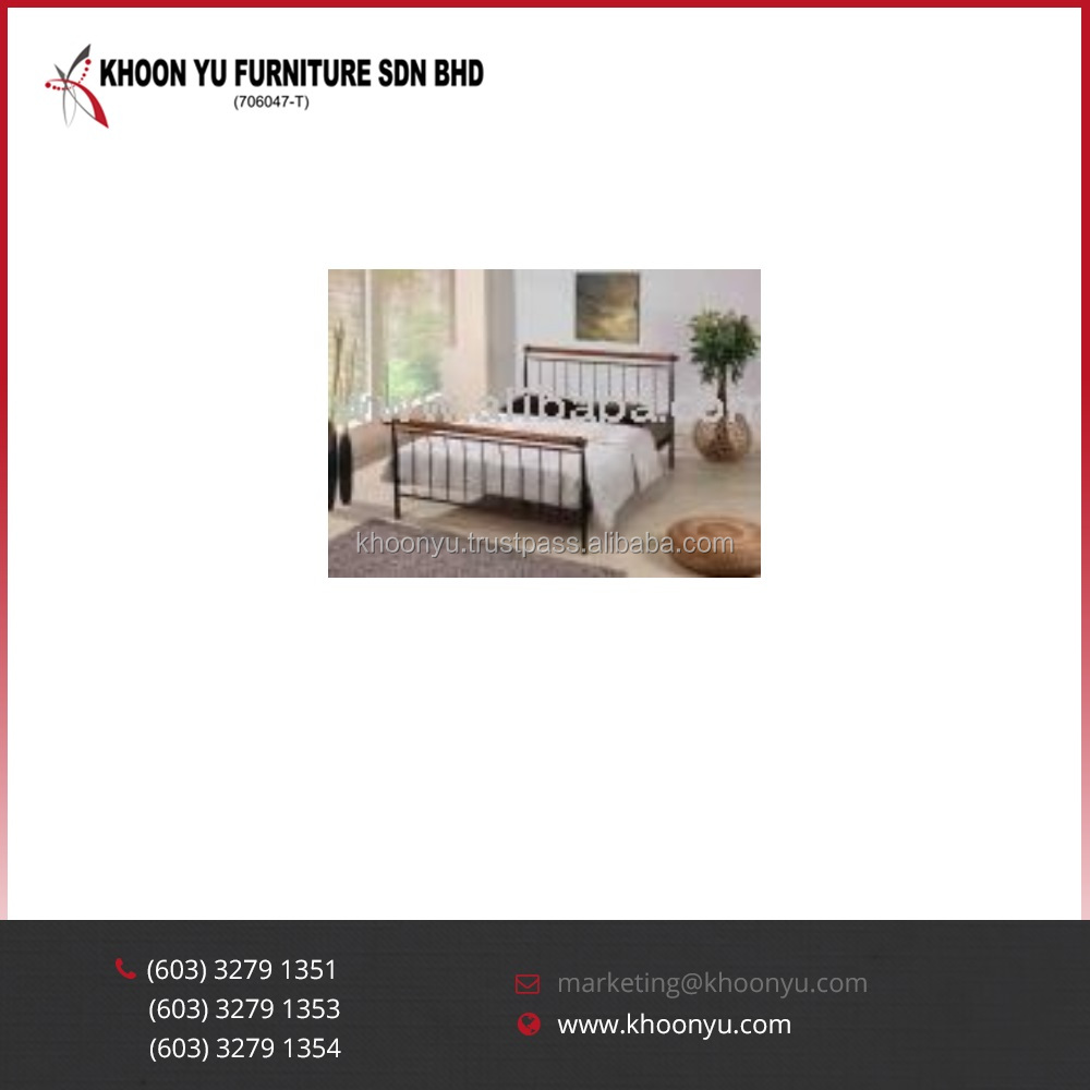 New model bedroom furniture Melissa Double Metal Bed For bedroom furniture Malaysia