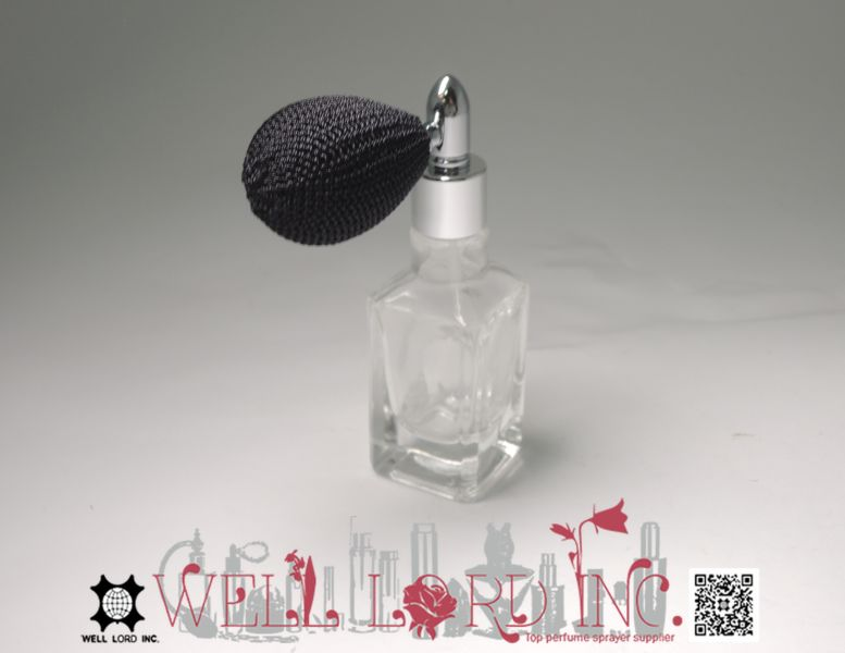 Travel portable 13ml mini clear glass perfume bottle Rebecca purple bulb sprayer bottle