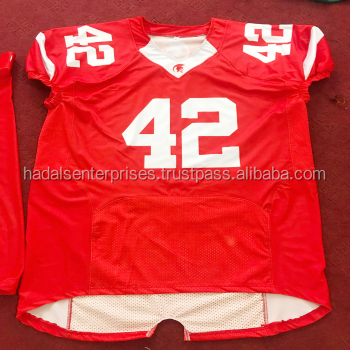 Online wholesale cheap national team latest designs youth sublimated and custom american football jersey