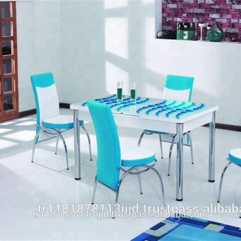 Tempered Gl Modern Dining Table
