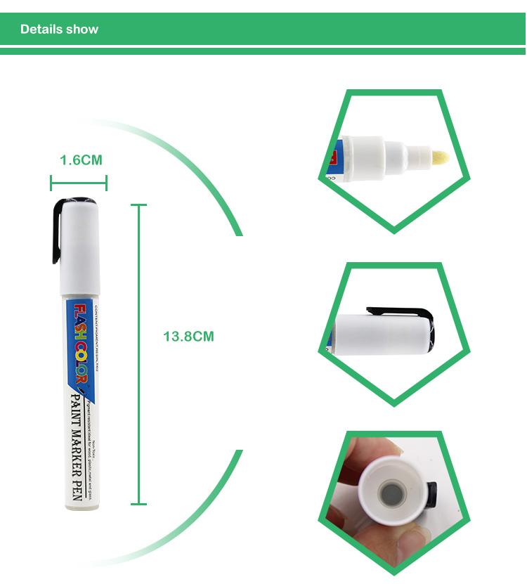 Amazon Hot selling Cheap fine Metallic color oil based permanent paint marker for wood/stone