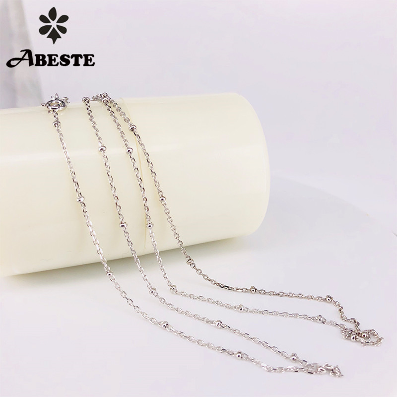 ABESTE Wholesale Fashion Jewelry 925 Sterling Silver High Quality Cross Ball Chains Necklace Classic Style