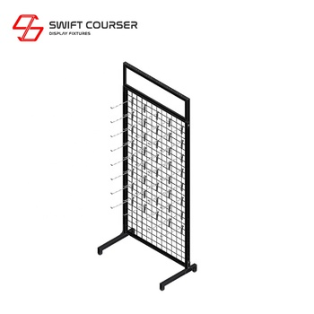 Metal grid mesh wall wire panel organizer display rack
