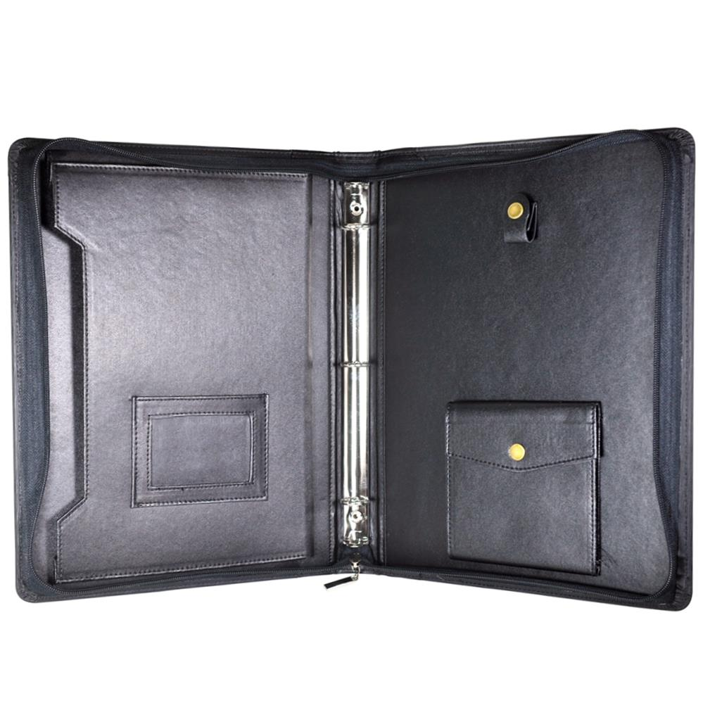 How To Make Covered Files: Customized A4 Leather Document File Cover Folder With Key