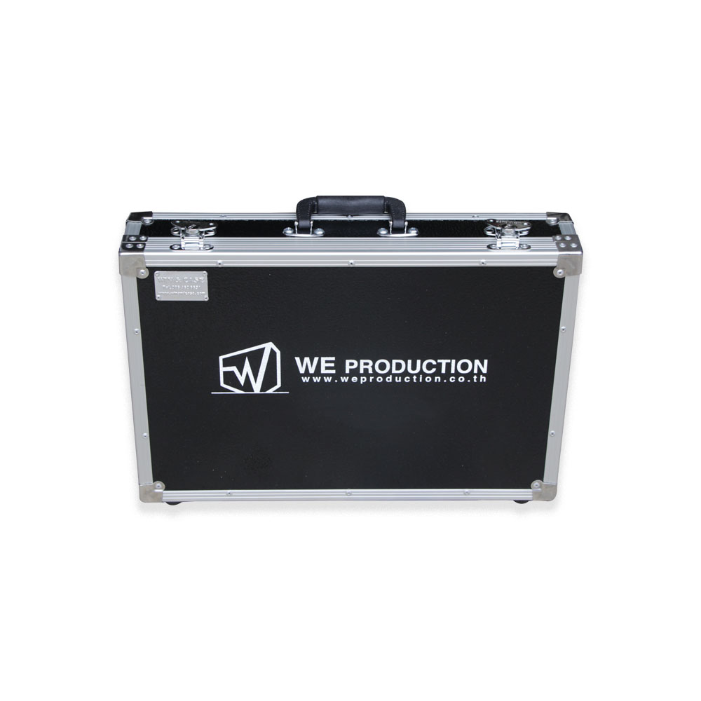 Flight case for wireless microphone sennheiser skm with handle, Aluminium case