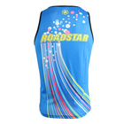 Custom dry fit men's tank tops sublimated running vest