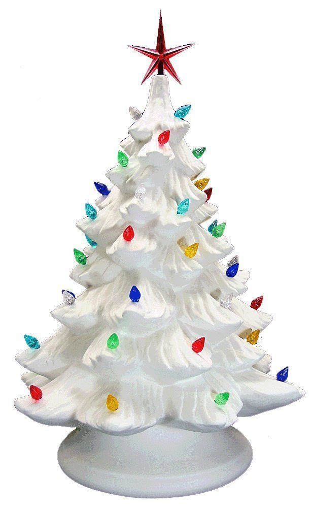 get quotations lighted christmas tree paint your own ceramic unfinished low fire ceramic bisque - Small Lighted Christmas Tree