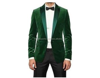 Neuen Männer Luxus Designer Elegante Partei Zu Tragen Grüner Blazer Jacke Mantel Buy Elegante Winter Herren Mantel,Mäntel Und Jacken,Samt Mantel