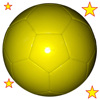 Simple Plain Machine Stitched Football/Soccer Ball (without any printing) In Yellow Color 32 Panels