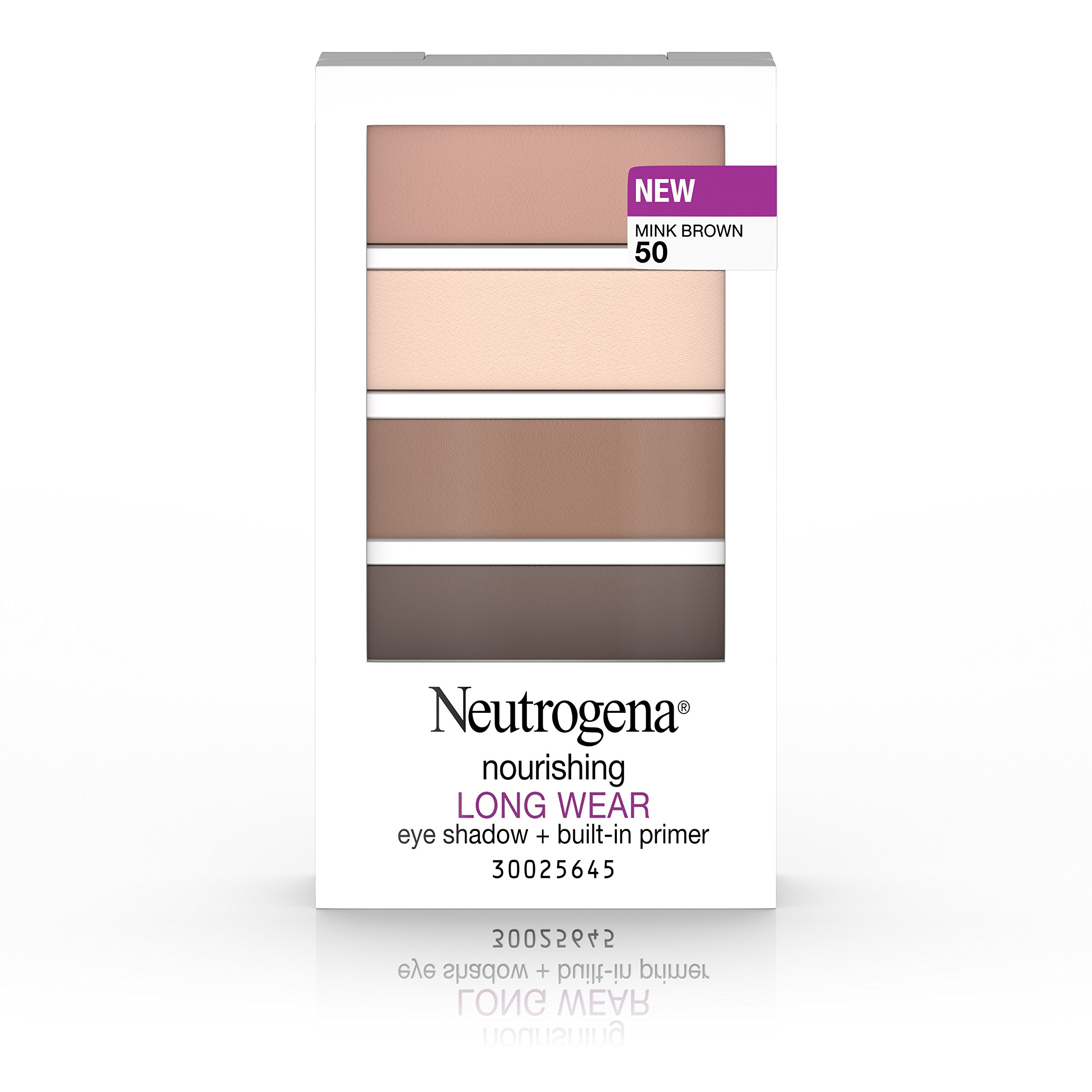 Neutrogena Nourishing Long Wear Eye Shadow + Built-In Primer, 50 Mink Brown, .24 Oz.